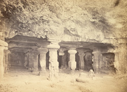 [Facade of] The caves of Elephanta